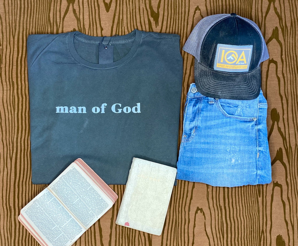 Man of God Tee - Charcoal 1900