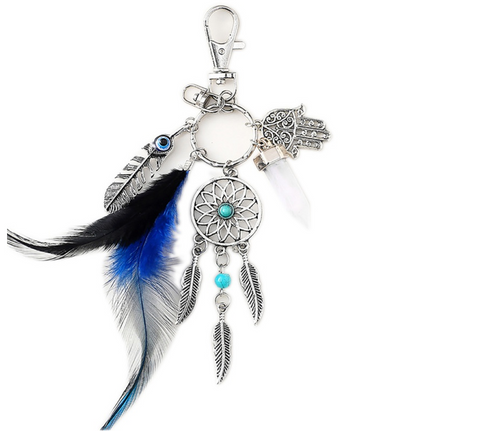 dark blue dream catcher key chain all over the drop