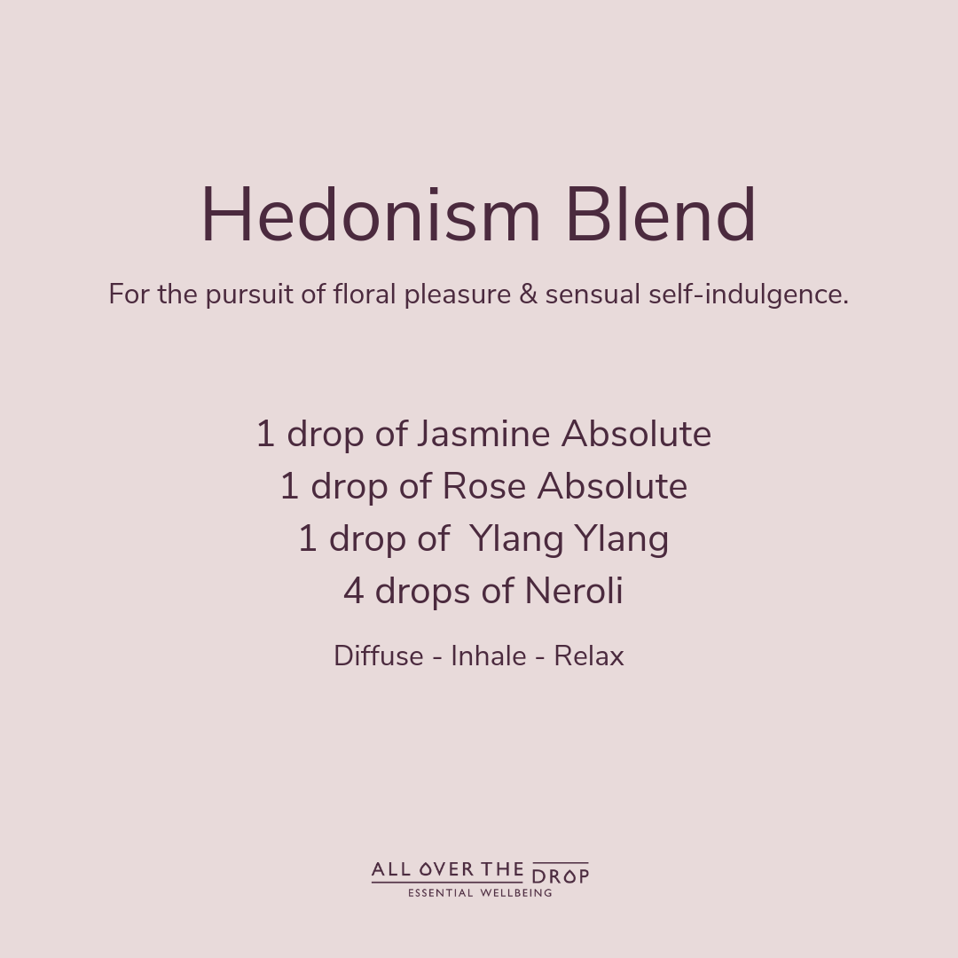 Jasmine absolute hedonistic essential oil blend
