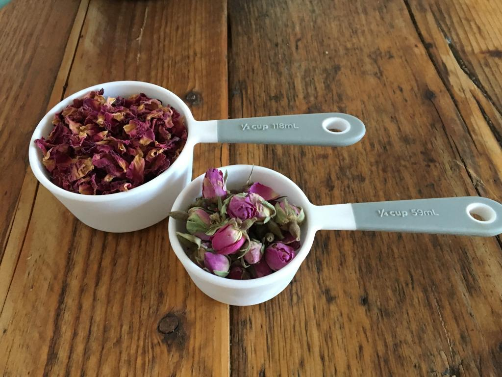 bath salts recipe with rose petals