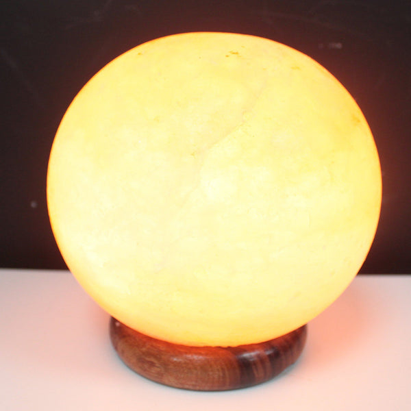 Round Pink Himalayan Salt Lamp 3.9kg - All Over The Drop