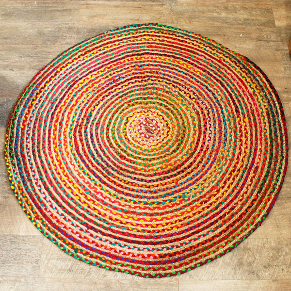 Jute and Cotton Handmade Rag Rugs - All Over The Drop