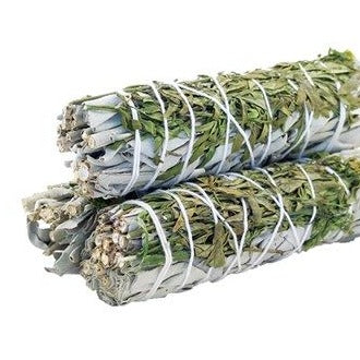 Smudge Stick - White Sage & Ruda 10cm - All Over The Drop