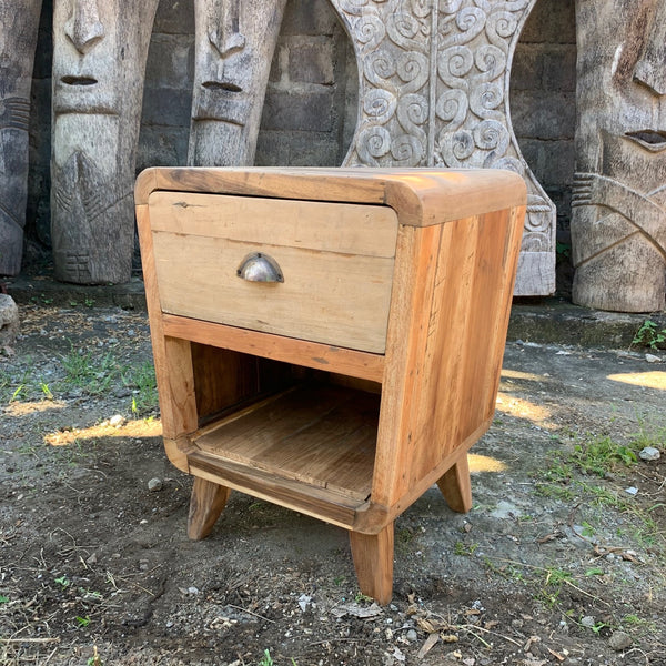 Bedside Table - Round One Draw - Recycled Wood