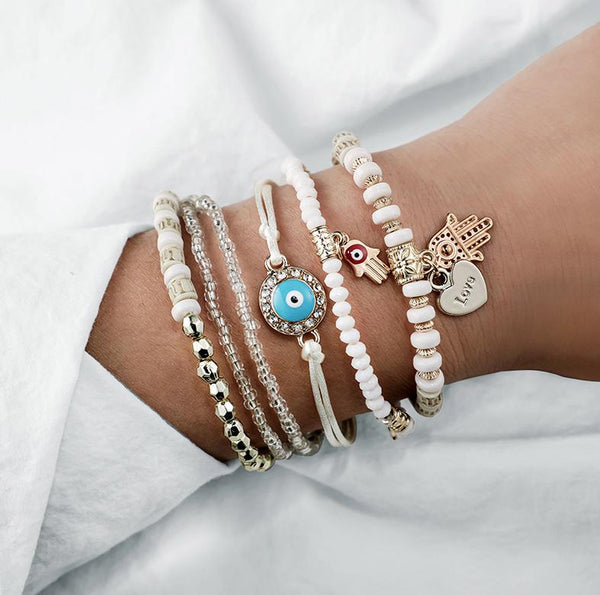 Hamsa Charm Bracelet - All Over The Drop