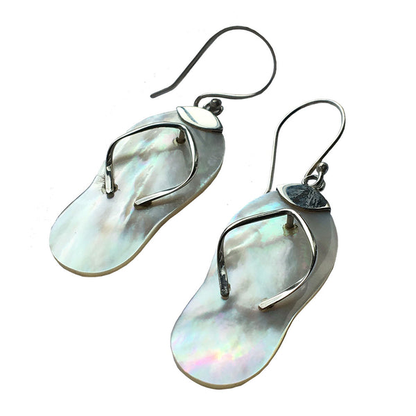 Silver Flip Flop Earrings - All Over The Drop