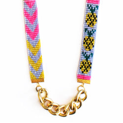 Piña Pineapple Long Bead Loom Necklace - All Over The Drop
