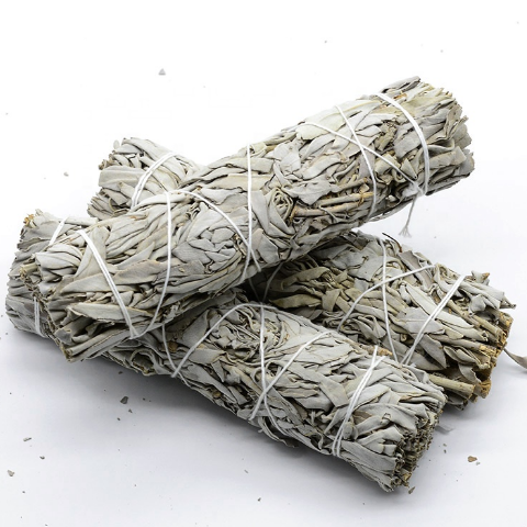 White And Blue Sage Smudge Sticks - All Over The Drop