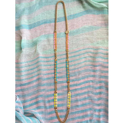 Soleil Skinny Bead Loom Necklace - All Over The Drop