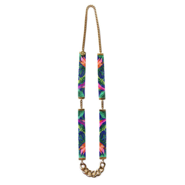 Tropic Exotic Bead Loom Necklace - All Over The Drop