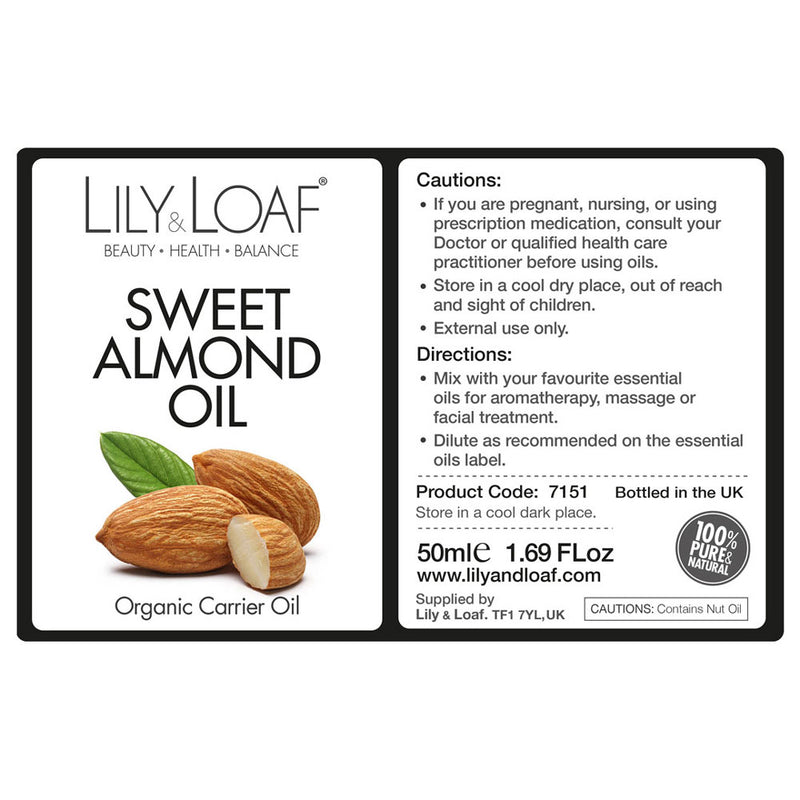 Organic Sweet Almond Oil - All Over The Drop