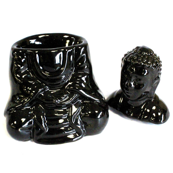 Black Buddha Essential Oil Burner - All Over The Drop