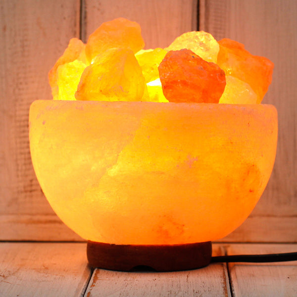 Fire Bowl Pink Himalayan Salt Lamp 3.1kg - All Over The Drop