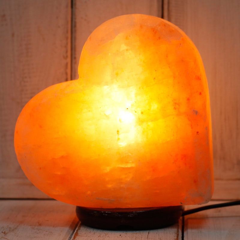 Heart Shaped Pink Himalayan Salt lamp 2.4kg - All Over The Drop