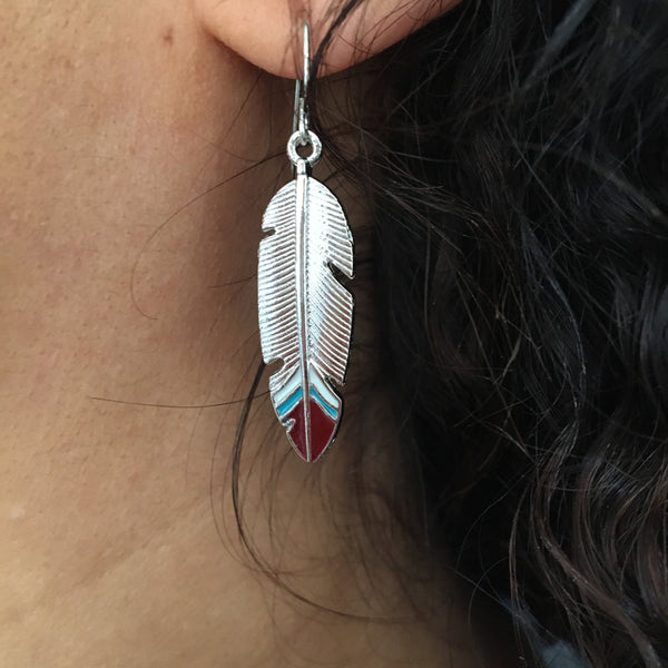 buy feather earrings uk