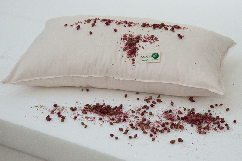 Rose aromatherapy pillow all over the drop