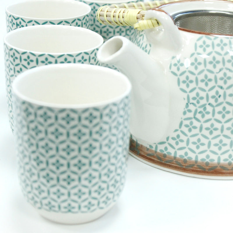 Herbal Infusion Teapot With 6 matching Cups