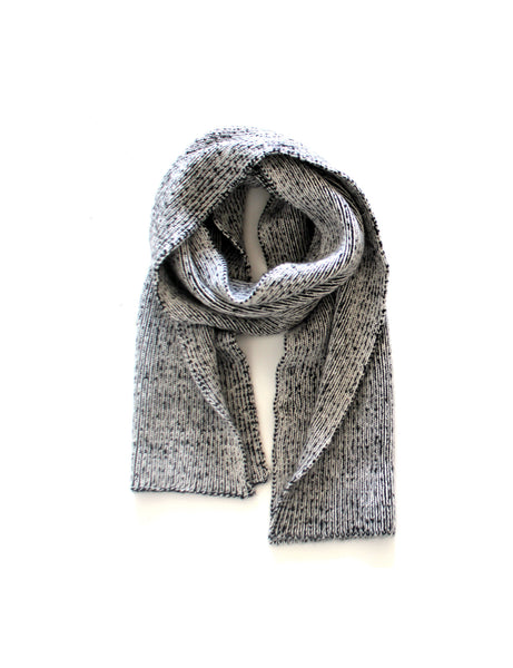 Dual Tone Ribbed Scarf