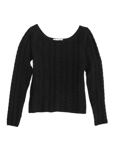 Boatneck Cable Sweater
