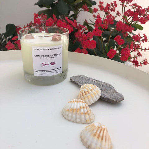 Crystal Candles for Valentine's Day