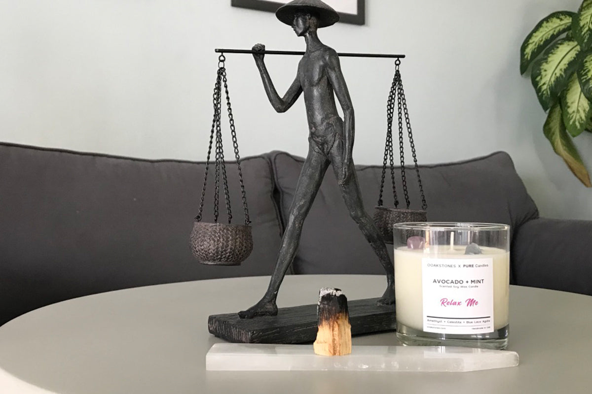 Crystal infused candles for your home