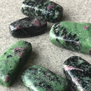 Ruby Zoisite Touch Stones