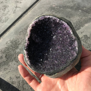 Dark Purple Cut Base Amethyst