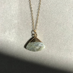 Shaped Crystal facaded Necklace