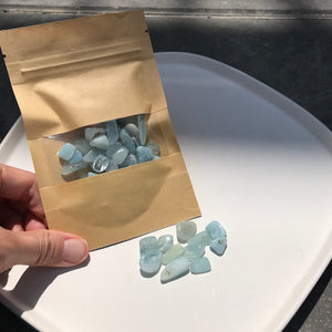 Aquamarine Chips Set