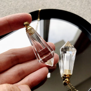 Vogel Point Clear Quartz Perfume / Essential Oil Bottle
