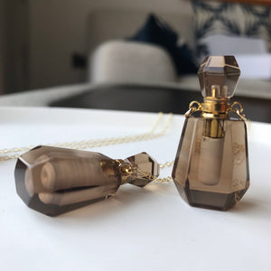 Crystal Perfume bottle - Smoky Quartz