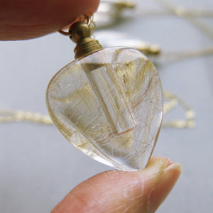 Crystal Perfume bottle - Rutilated Quartz