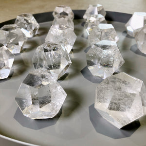Clear Quartz dodecahedron geo