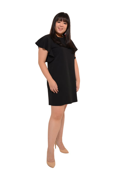 *Exclusive* Fluttered Sleeve Shift Dress (Pirate Black), Dress, 1214 Alley