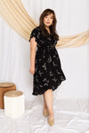 Fern High-Low Tortoise Shell Buckle Dress (Black), Dress - 1214 Alley