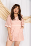 Kimono Lace Romper (Nude Blush), One-Piece - 1214 Alley