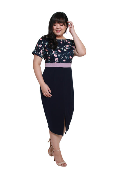 *Exclusive* Tsubaki Dress (Navy Blue)