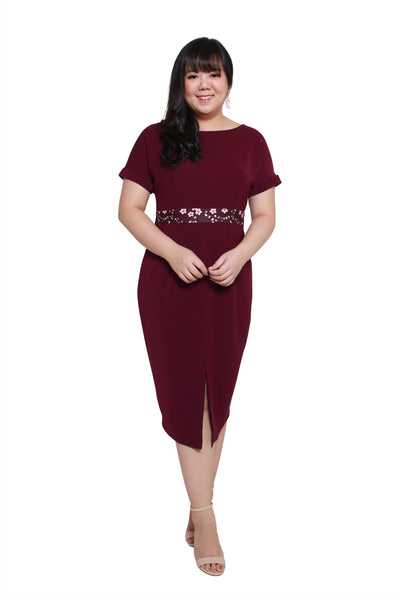 *Exclusive* Tsubaki Dress (Lush Wine)