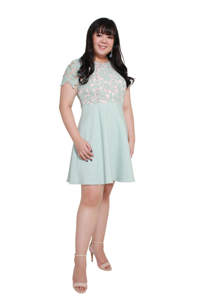 *Exclusive* Oriental Marble Crochet Dress (Mint/Blush), Dress, 1214 Alley