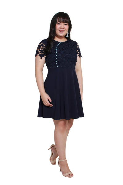 *Exclusive* Oriental Marble Crochet Dress (Navy Blue), Dress, 1214 Alley