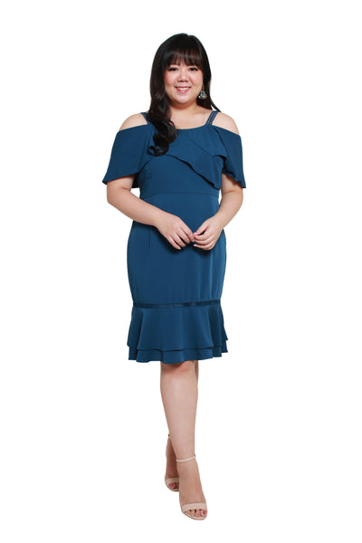 *Exclusive* Victoria Flute Hem Dress (Lush Teal), Dress, 1214 Alley