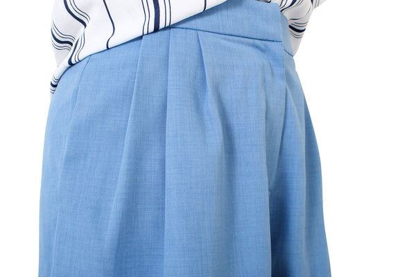 *Exclusive* Box Pleated Shorts (Ocean)