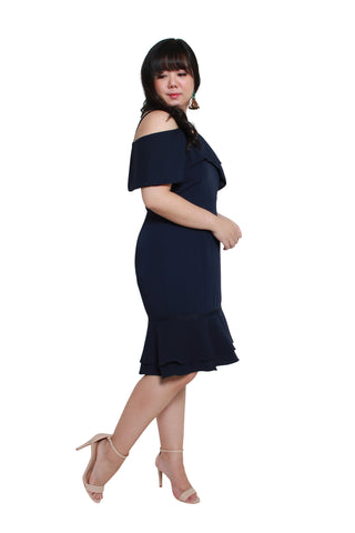 *Exclusive* Victoria Flute Hem Dress (Navy Blue), Dress, 1214 Alley