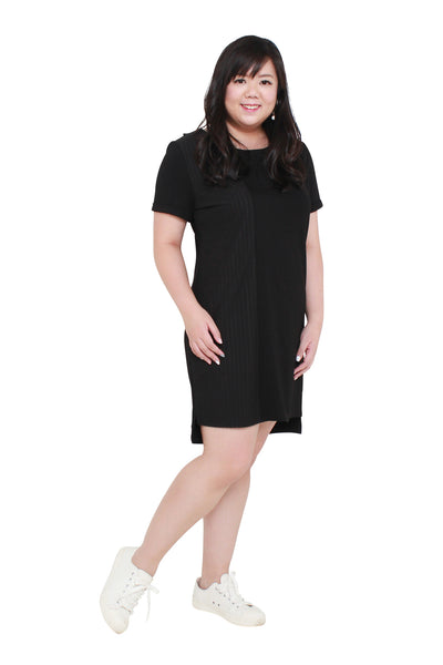 *Exclusive* Dual-Texture Dress (Black), Dress - 1214 Alley