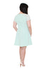 *Exclusive* Crochet Sleeves Skater Dress (Mint), Dress, 1214 Alley