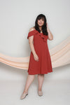 Cold Shoulder Frills Dress (Rust), Dress - 1214 Alley