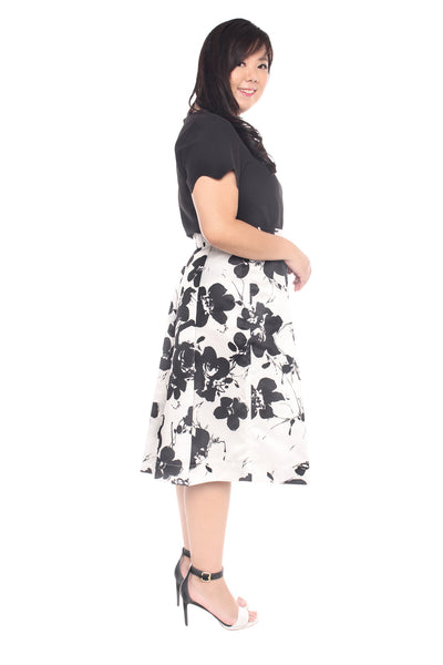 (Exclusive) Floral Midi Skirt, Skirt, 1214 Alley