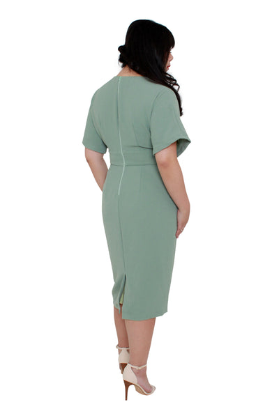 *Exclusive* Classic Kimono Dress (Mauve Mint)
