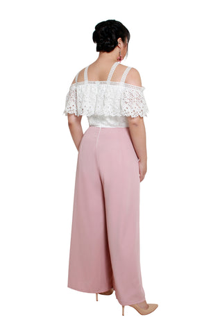 *Exclusive* Callia Crochet Jumpsuit (Blush), Dress, 1214 Alley
