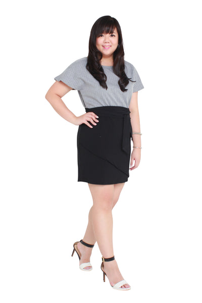 *Exclusive* Bell Sleeves Work Dress (Grey), Dress, 1214 Alley